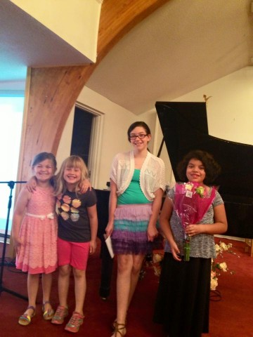 Happy students at the Spring Recital