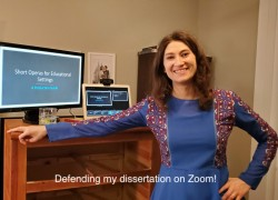 Defending my dissertation on Zoom!