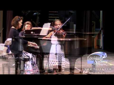 River Ridge, Metairie, Kenner Violin Lessons at LAAPA | Audrey performs