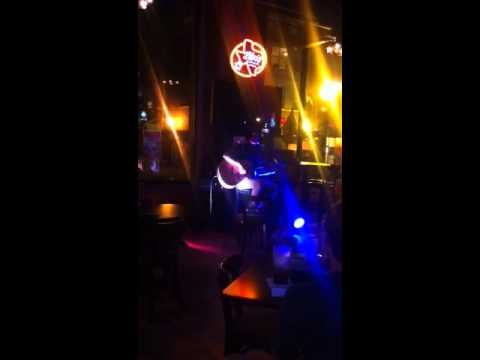 Evan at open mic night
