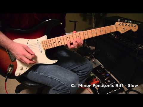 C# Minor Pentatonic Riff