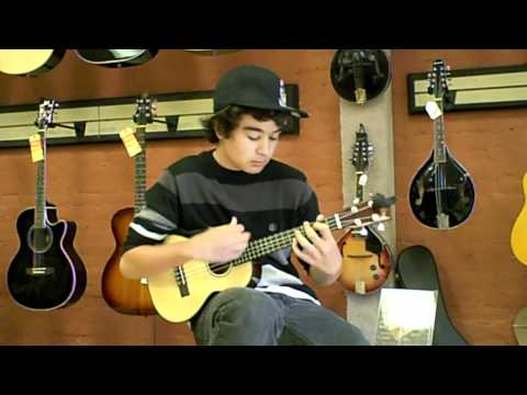 Taylor plays 143 on the Kala Spruce Tenor Uke at ABC Music